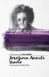 Capa do triptico sobre Josefina Arruti