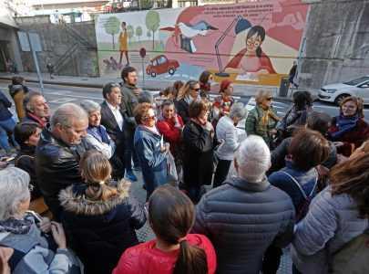 Un roteiro guiado por Ana Acuña e Fina Casalderrey arroupará a inauguración do mural María Victoria Moreno