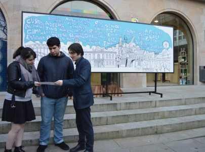 Presentación do mural de Kiko da Silva sobre a Pontevedra sindicalista, obreira e agrarista e as súas vítimas silenciadas