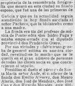 Necrolóxica de Cándida Otero Fontán