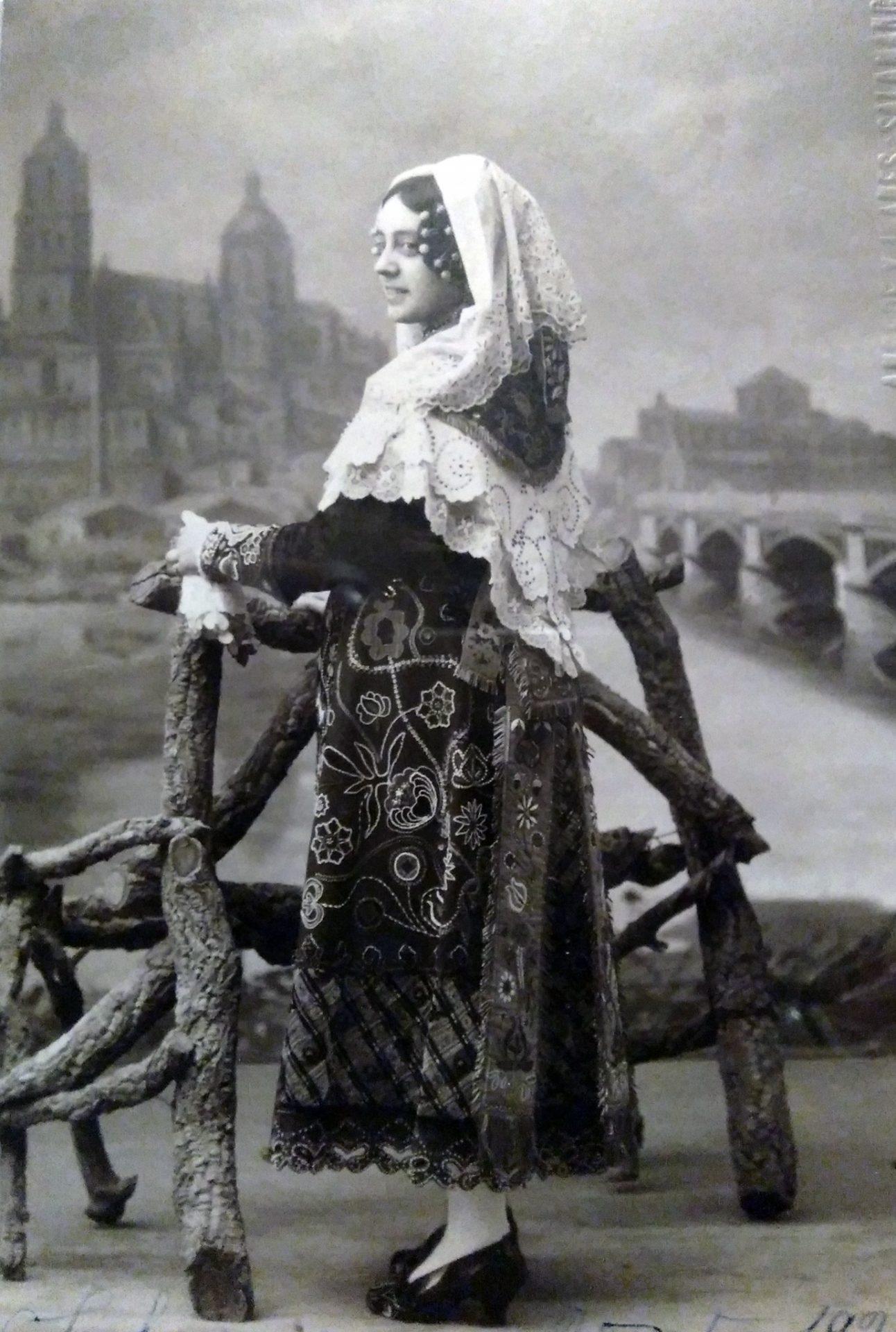 María Chaves de charra en Salamanca