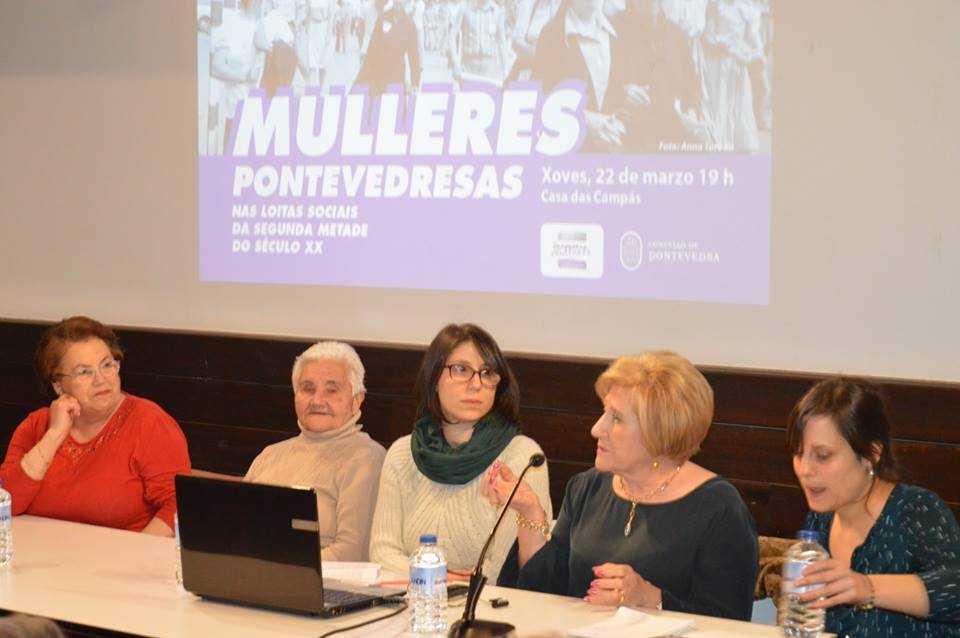 Acto Mulleres pontevedresas nas loitas sociais da segunda metade do século XX