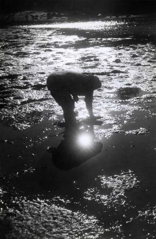 Muller mariscando