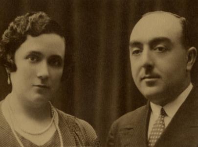 Blanca Rodríguez Sáenz con Juan Rico