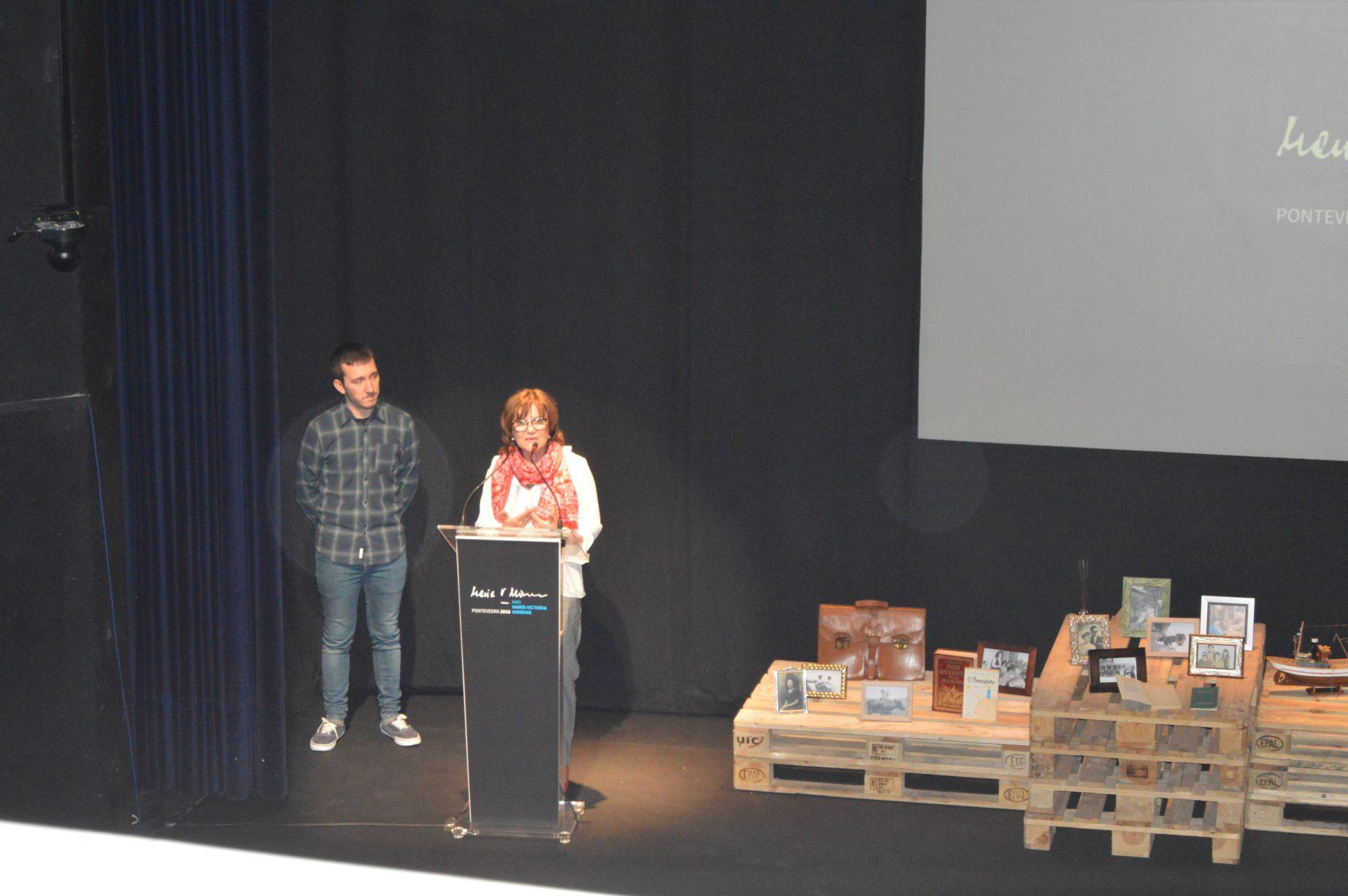 Homenaxe a Mª Victoria Moreno no Teatro Principal
