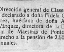 Nomeamento de Fidela González como directora