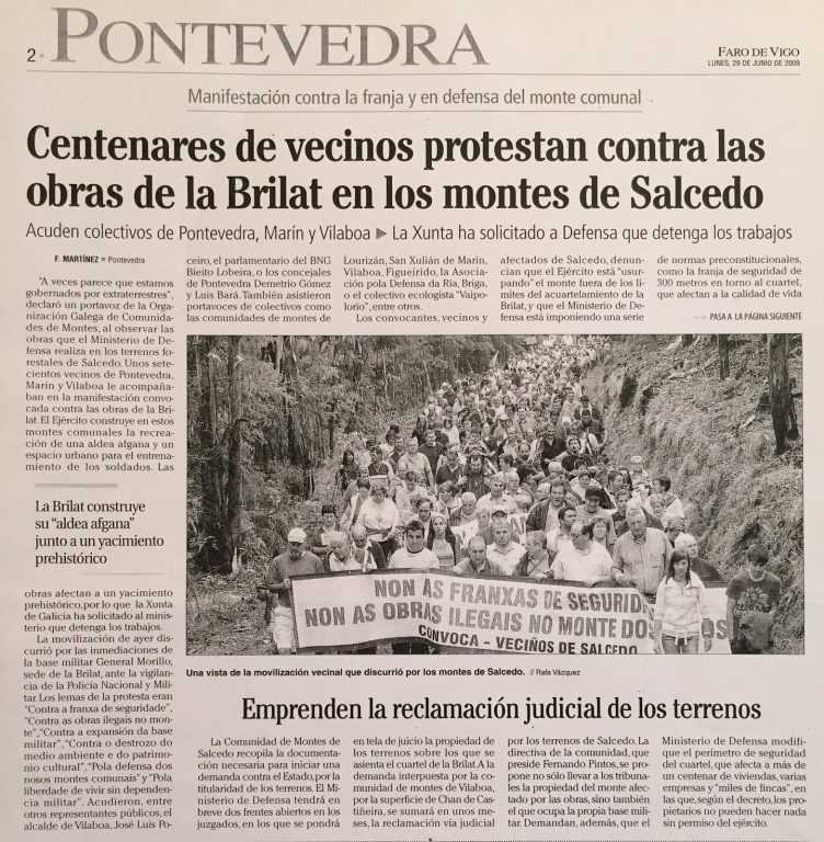 Nova sobre as protestas contra a Brilat