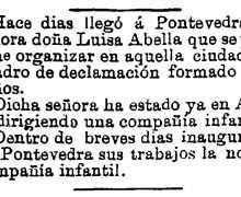 Nova na Gaceta de Galicia sobre Luísa Abella