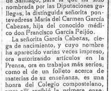 Nova sobre María del Carmen García Cabezas