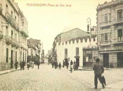Postal da Praza de San Xosé