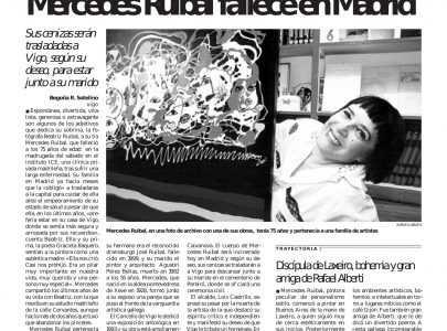 Necrolóxica de Mercedes Ruibal Argibay