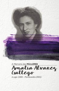 Capa do díptico sobre Amalia Alvarez