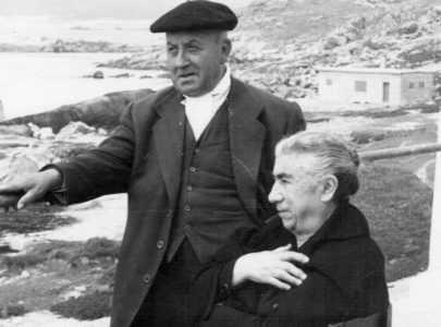 Josefa Vázquez, señora Pepa, e Antonio Dios