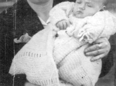Otilia Meis e o seu fillo Ramón
