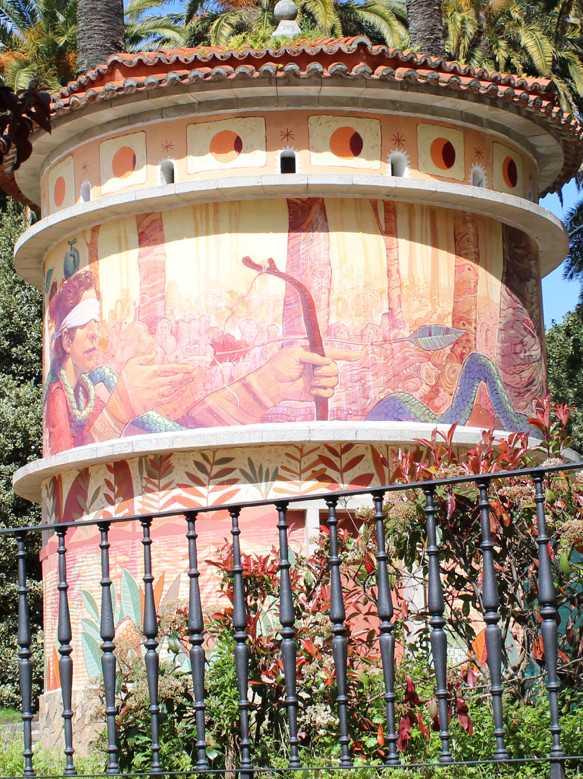 Mural no pombal das Palmeiras