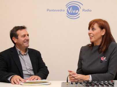 Montse Fajardo e Luís Bará en Pontevedra Viva Radio