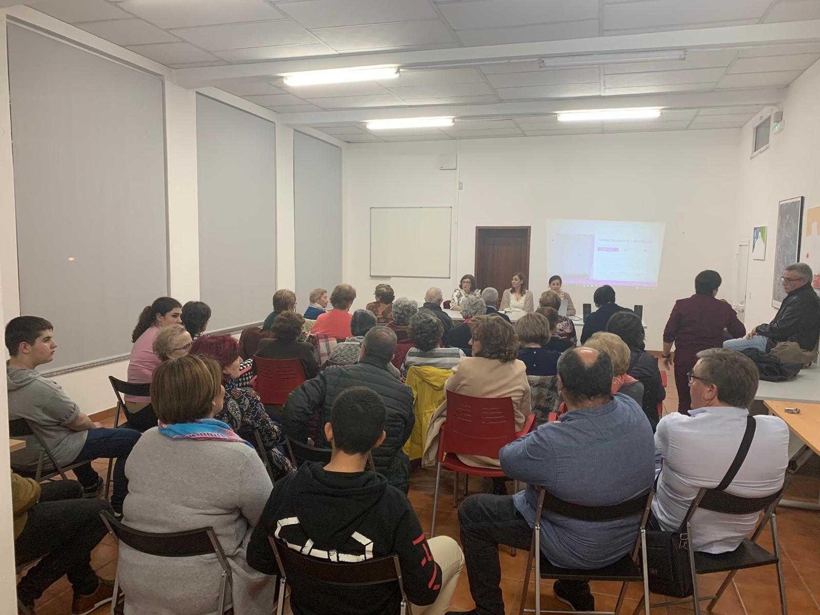 Acto de presentación da web en Mourente