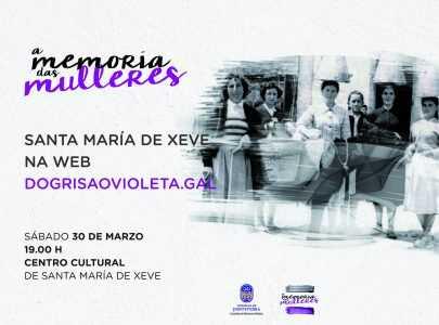 Cartel do acto Santa María de Xeve na web dogrisaovioleta
