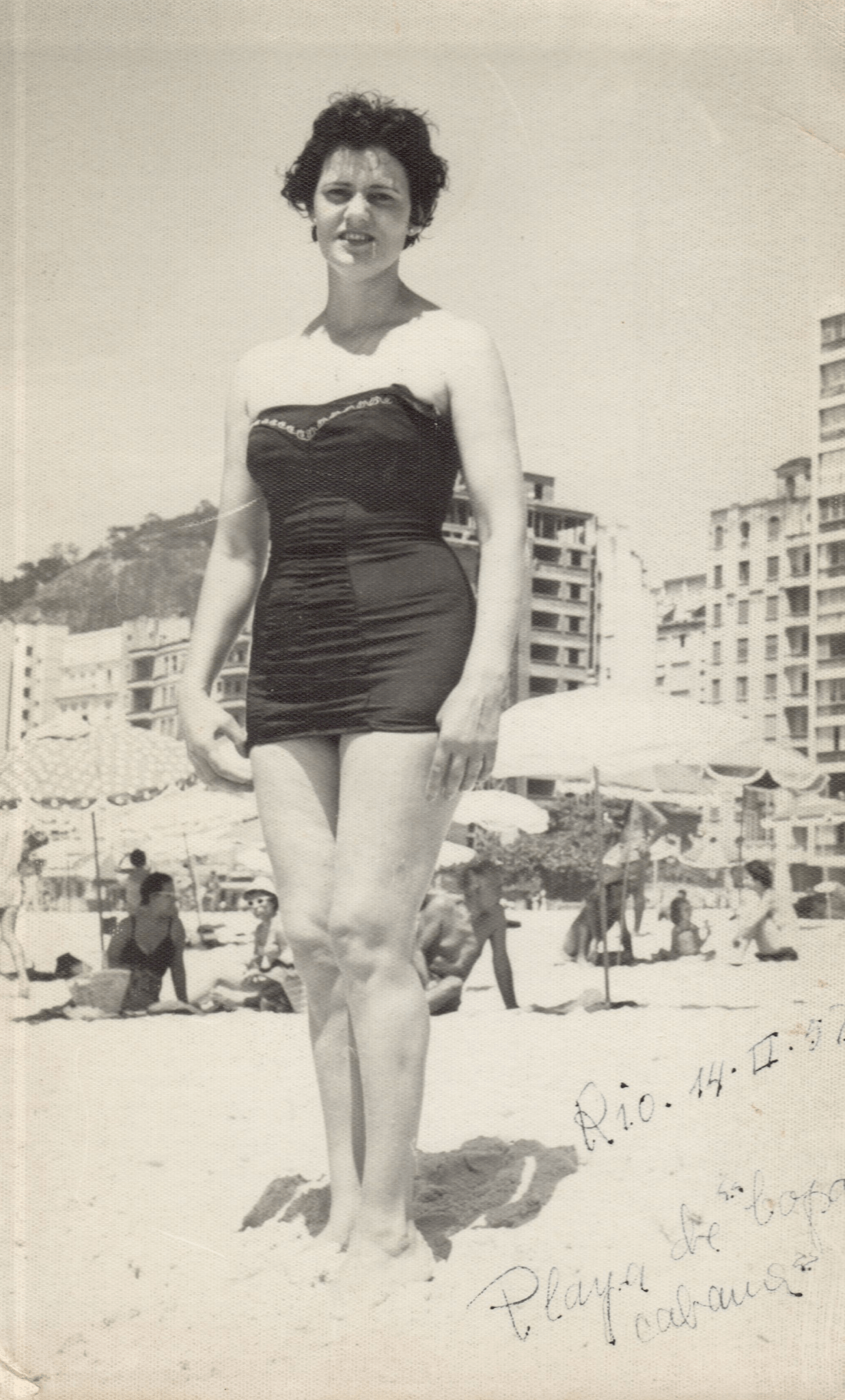 Olivia Tomé cando residía en Río