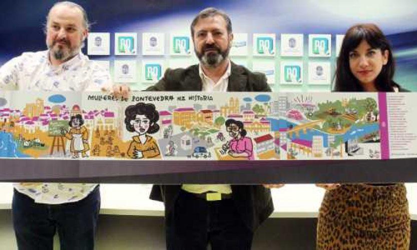 Presentación do mural da Memoria das Mulleres