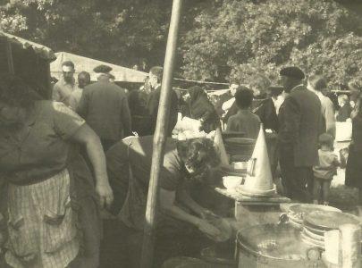 Posto da polbeira Fidel nunha feira