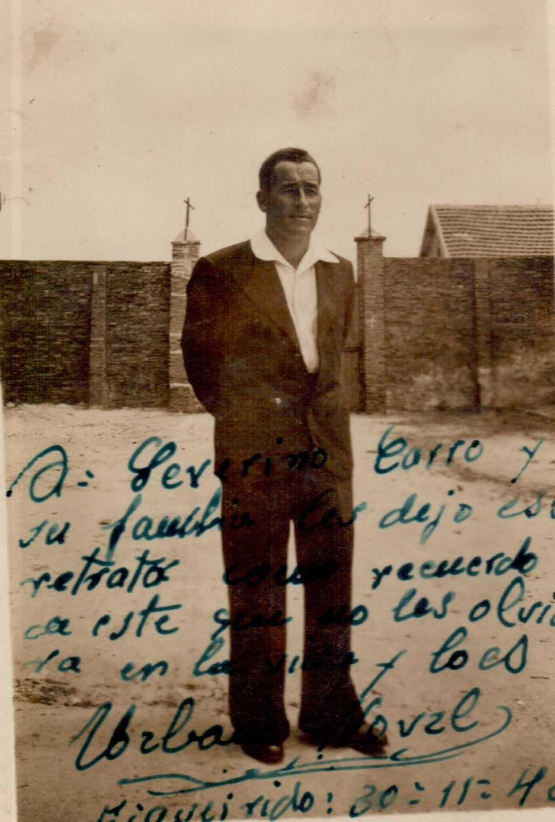 Foto dun preso en Figueirido que mandou en agradecemento ao pai de Lali