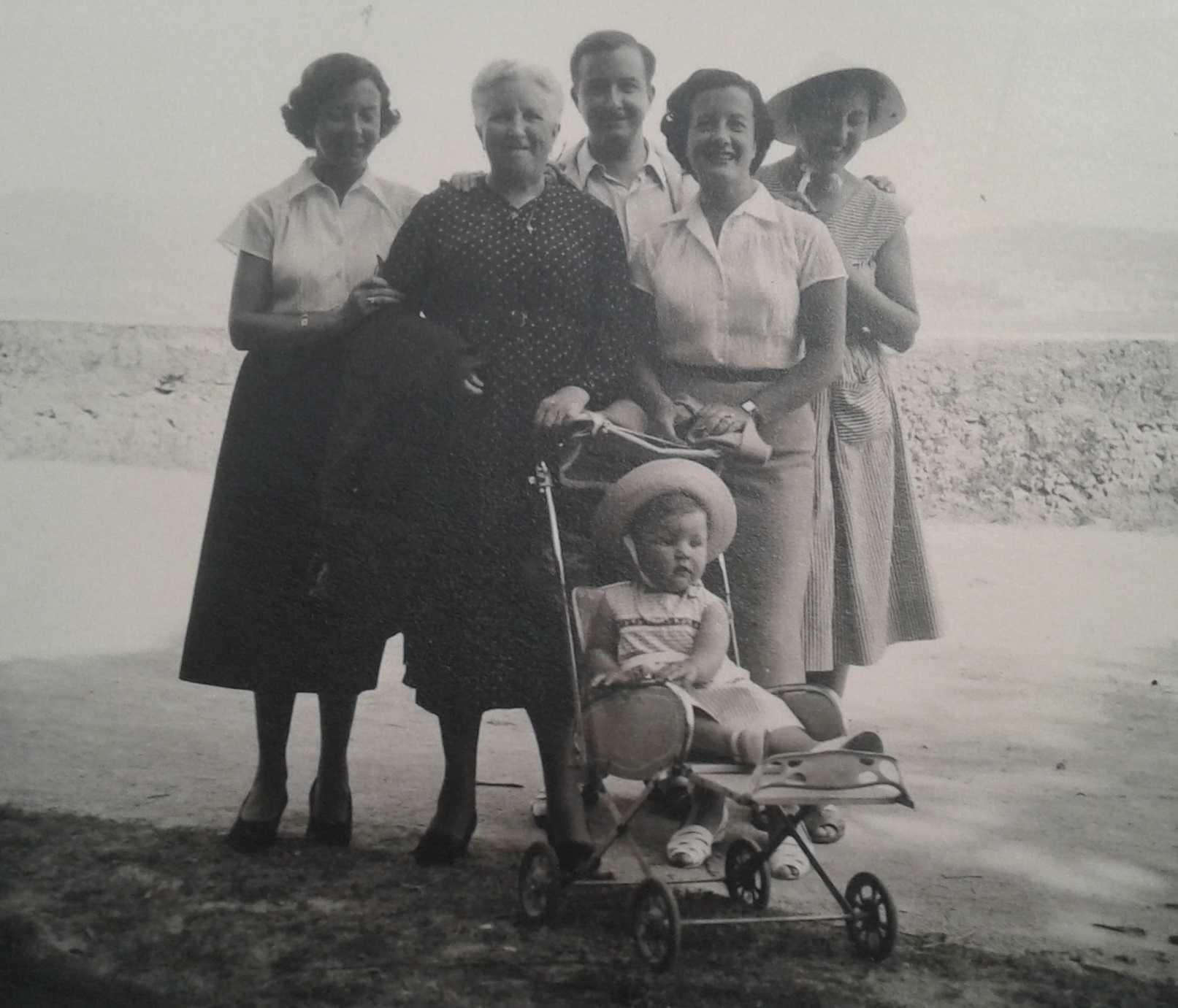 Matilde Caamaño coa familia