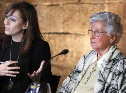 Margarita Caballero na mesa do Encontro-coloquio sobre memoria histórica de 2016