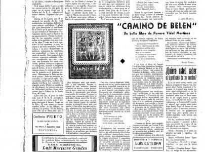 Nova sobre o libro 'Camino de Belén' no xornal Ciudad