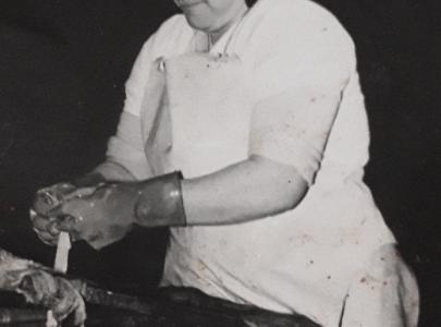 Matilde Villaverde Martínez traballando na emigración