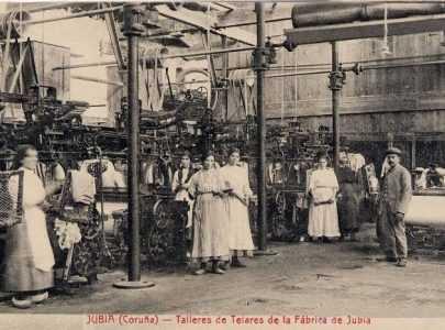 FOTO4 Traballadoras da fabrica textil de Xuvia en 1919 un ano despois da revolta