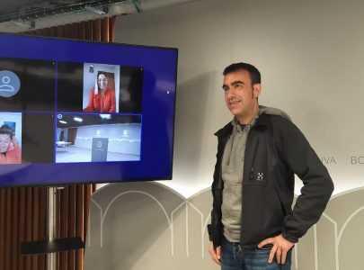 Xaquín Moreda na presentación dos vídeos de TikTok